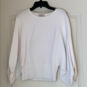 Puffed sleeve white sweater from Aritzia